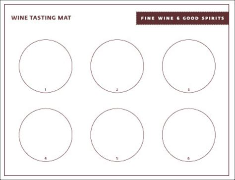 fine wine & good spirits: wine tasting mat