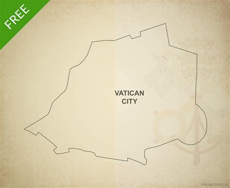 Vatican City Map Outline free vector map of vatican city outline one stop map
