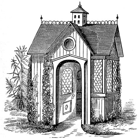 the art house vintage clip art victorian garden house the graphics fairy