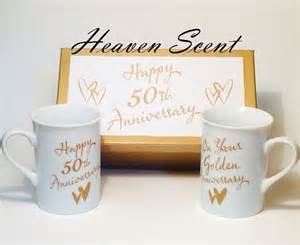 golden anniversary gift ideas 50th golden wedding anniversary gift boxed porcelain mug set ideas gold idea ebay