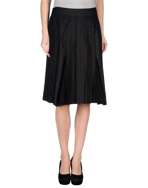 philosophy di alberta ferretti knee length skirt in black