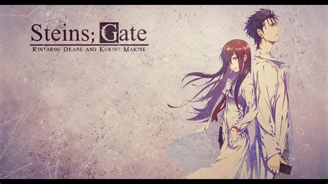 steins gate steins gate okabe and makise wallpaper by eazyhd on