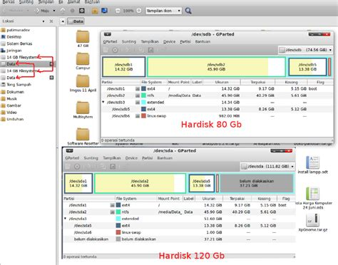 Hardisk Laptop 120 Gb service pc