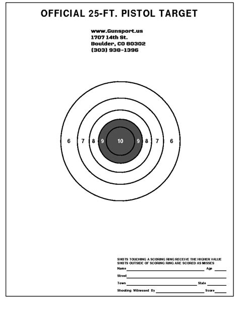 gunsport of colorado want to download a target to use printable targets for pistol shooting www imgkid com
