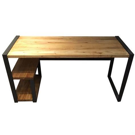 escritorio hierro y madera escritorio estilo industrial decorar un dormitorio de