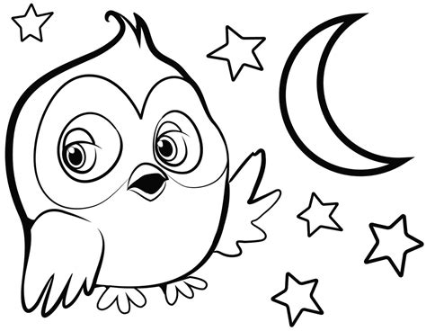 printable owl to color cute owl coloring pages to print coloring home