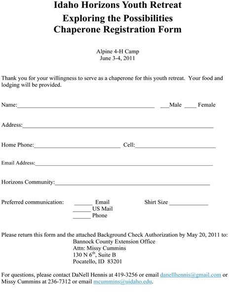 retreat registration form template ririe coalition for community development ryac youth