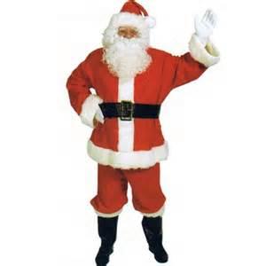 men s santa claus suit uniform