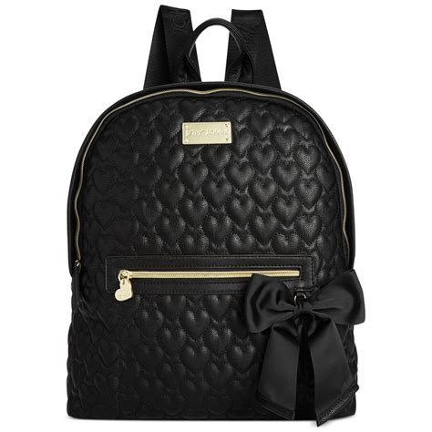 Black Quilted Backpack by Betsey Johnson Quilted Backpack In Black Black Quilted Lyst