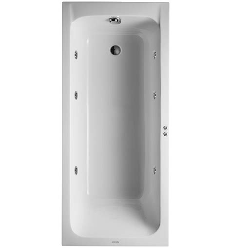 bathroom outlet uk duravit d code 1700x750mm bath outlet in foot area jet