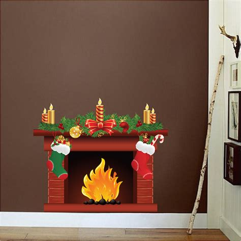 wall mural sticker fireplace wall decal mural living room wall