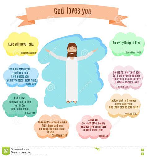 imagenes god love you smiling jesus christ open hands isolated cartoon vector