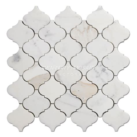 gold arabesque tile arabesque marble mosaic centurymosaic marble mosaic tile