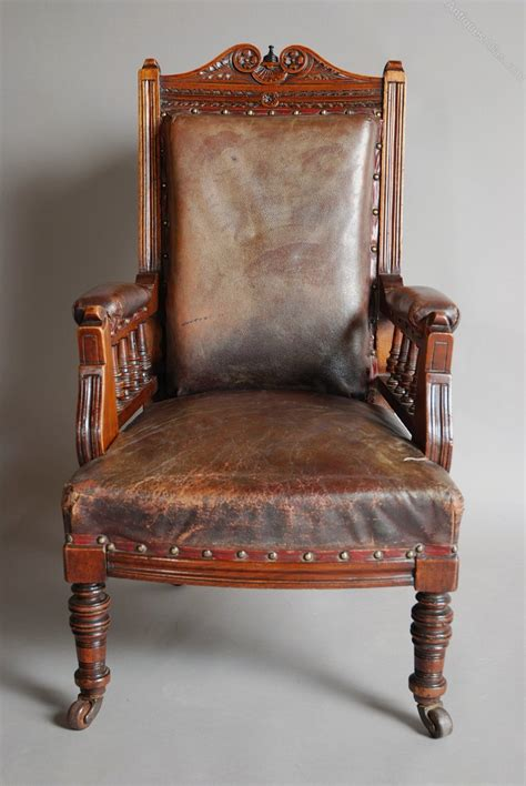 childs armchair late 19thc mahogany and leather child s armchair