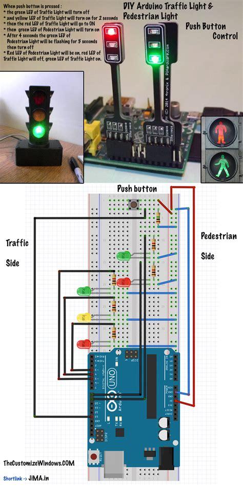arduino smart light switch diy arduino traffic light pedestrian light push button