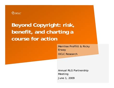 section 6 4 charting a course for the future answers beyond copyright risk benefit and charting a course for