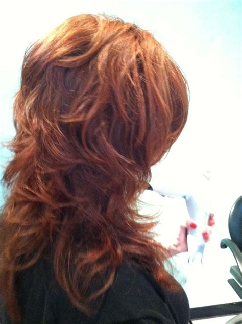 Long Haircuts With A Back View Redheads | back view of paula s short layers on long hair hair by