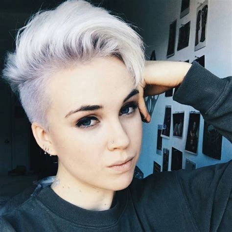 side shaved hair round face 45 unique short hairstyles for round faces get confident