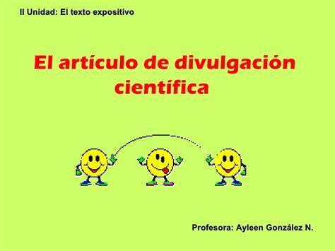 Articulos De Divulgacion Cientifica   el articulo de divulgacion cientifica