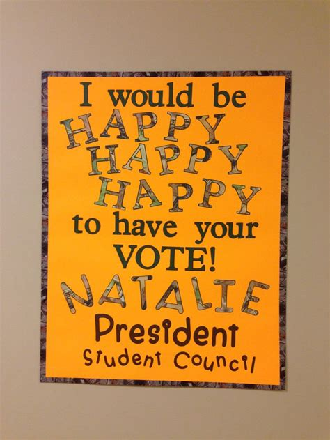 pin by rebekah smith on student council campaign pinterest