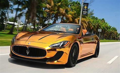 gold maserati granturismo maserati grancabrio mc gold edition cars