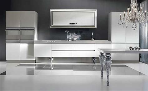 Italian Kitchen Silver by D 233 Coration Cuisine Armoire Blanche
