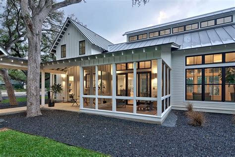 modern cottage plans screened porch modern house plan