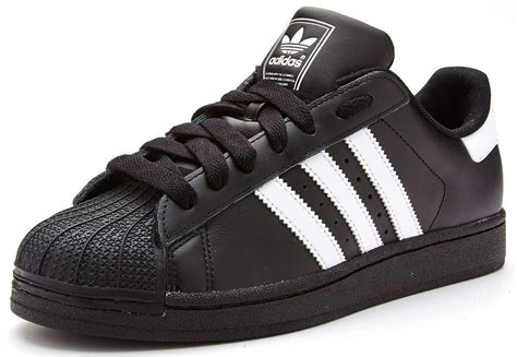 Adidas Originals Black adidas originals superstar 2 ii leather trainers in black