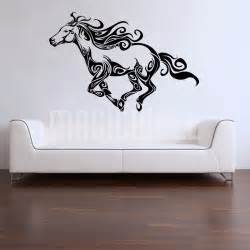 Horse Wall Stickers Wall Decals Tribal Horse Running Wall Stickers