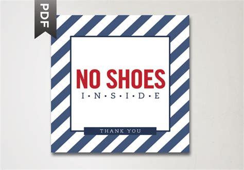 no shoes in the house items similar to no shoes inside house sign house rules print no shoes sign