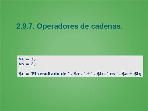 operadores de cadenas en php introducci 243 n al lenguaje php p 225 gina 2 monografias