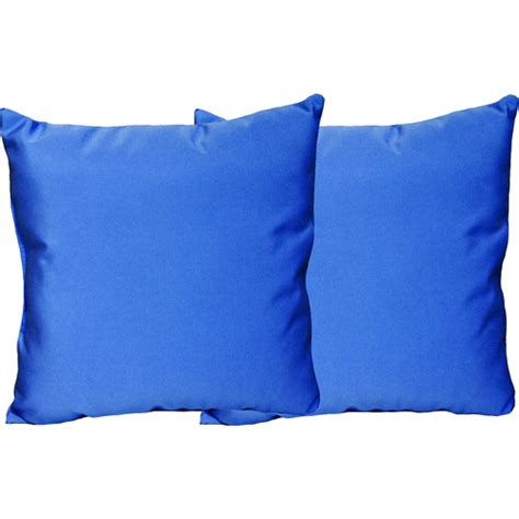 Outdoor Solid Throw Pillows Set Of 2 Sumatra Blue