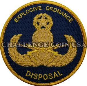 Us Army Explosive Ordnance Disposal Eod Cutting Sticker challengecoinusa explosive ordnance disposal patch with blue background