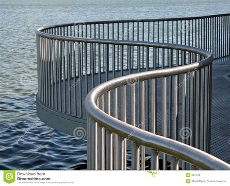 metal banisters and railings curved metal railing stock images image 591744