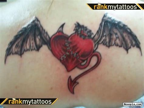 devil heart tattoo designs and designs