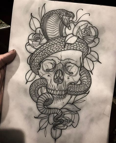 snake and skull tattoo designs skull and snakes skull and snakes snake