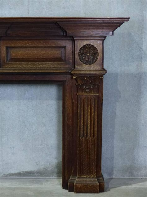 large fireplace mantels 19th century large oak estate fireplace mantel at 1stdibs