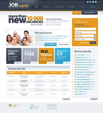 Template 30422 Job Search Website Template Search Website Template