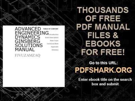 advanced engineering dynamics ginsberg solutions manual youtube