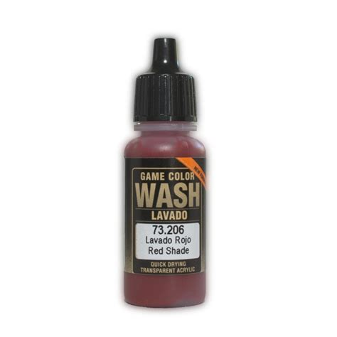 vallejo wash red shade vallejo 73 206 game color wash lavis rouge red shade