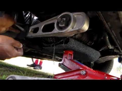 how to replace lower right motor mount dodge and plymouth