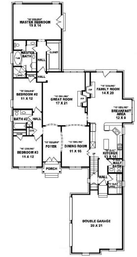 653805 15 story 3 bedroom 2 bath french style house plan wonderful 654015 one and a half story 3 bedroom 25 bath