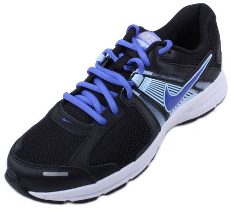 womens wide athletic shoes nike dart 10 womens black violet blue running