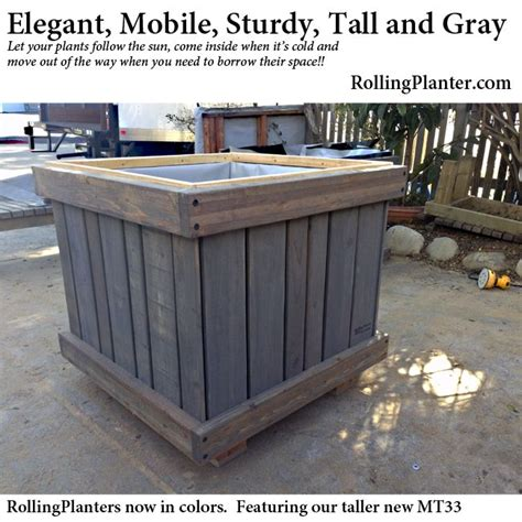 rolling raised garden beds 1000 images about custom rolling planters on