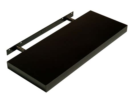 Gloss Black Floating Shelf by Abdabs Furniture Hudson High Gloss Black 900 Floating Shelf