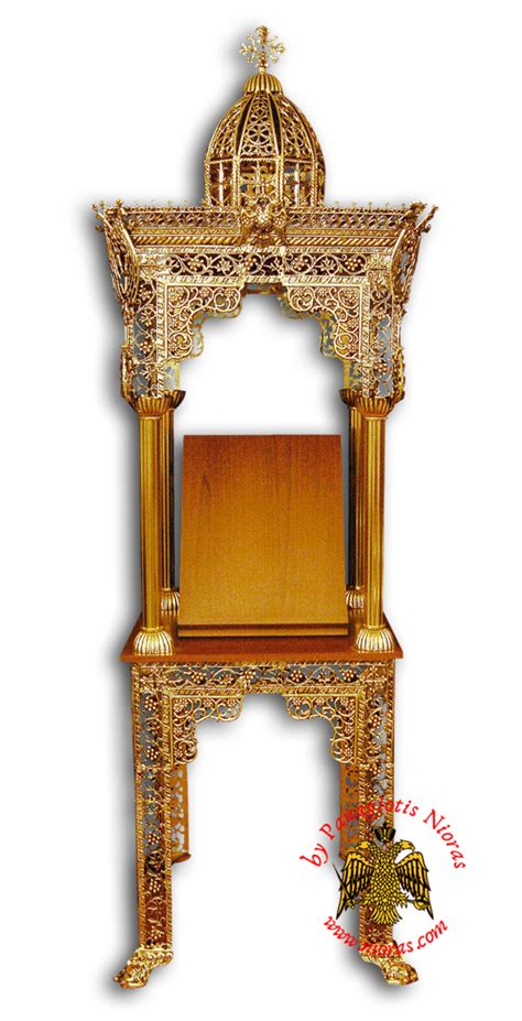 Charming Byzantine Church Supplies #1: 6876-40_Orthodox_Church_Icon_Stand_Nioras.jpg