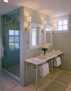 Blue Bathroom Tile Ideas Spotted From The Crow S Nest Beach House Tour Cape Cod