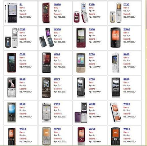 Harga Hp Merk Sony Ericsson macam merk hp nokia dan harganya hairstylegalleries