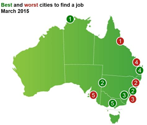 Finder In Australia Map The Best And Worst Places To Find A In Australia Business Insider