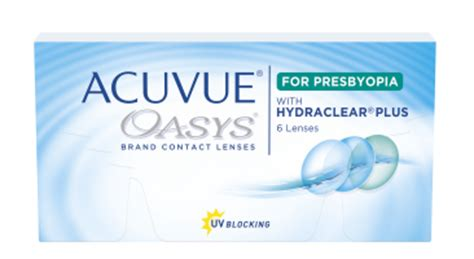 acuvue oasys® for presbyopia | contact lenses